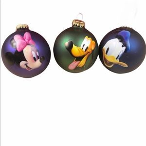 Disney Christmas Ornament Lot Minnie Daffy Pluto